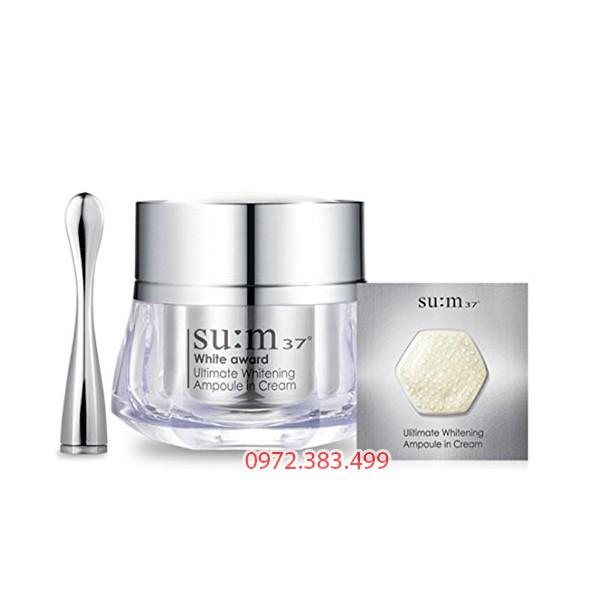 Kem dưỡng trắng da Su:m37 White Award Ultimate Whitening Ampoule in Cream.